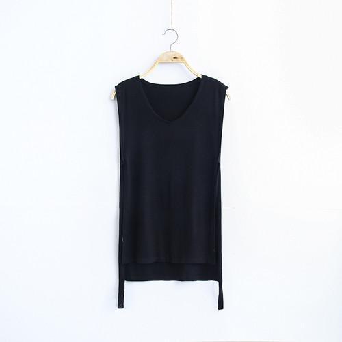 MIA& TOP black / One Size SLEEVELESS Cotton Top