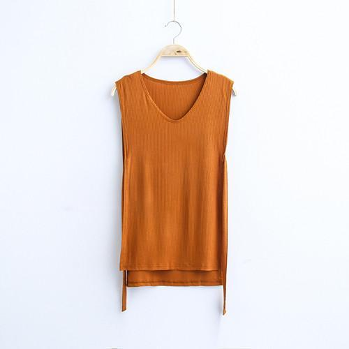 MIA& TOP orange / One Size SLEEVELESS Cotton Top