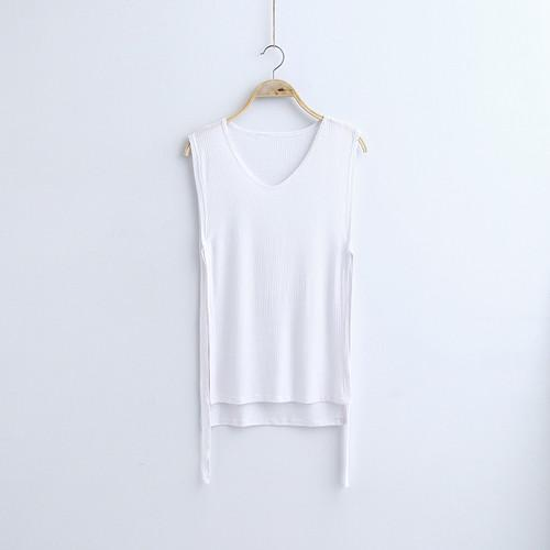MIA& TOP white / One Size SLEEVELESS Cotton Top