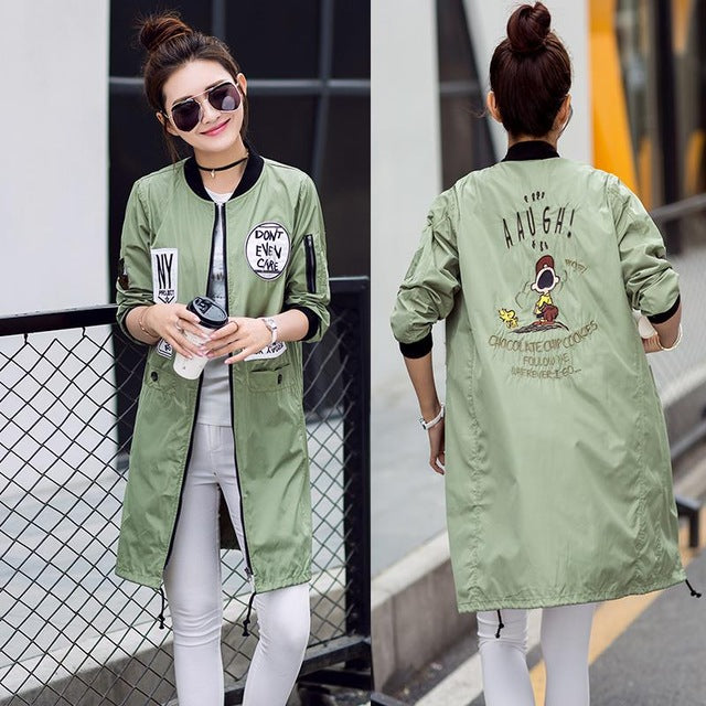 Bomber Trench Coat