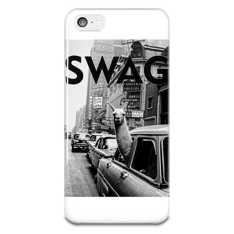 SWAG Llama In New York City Cab iPhone 5-5s Case