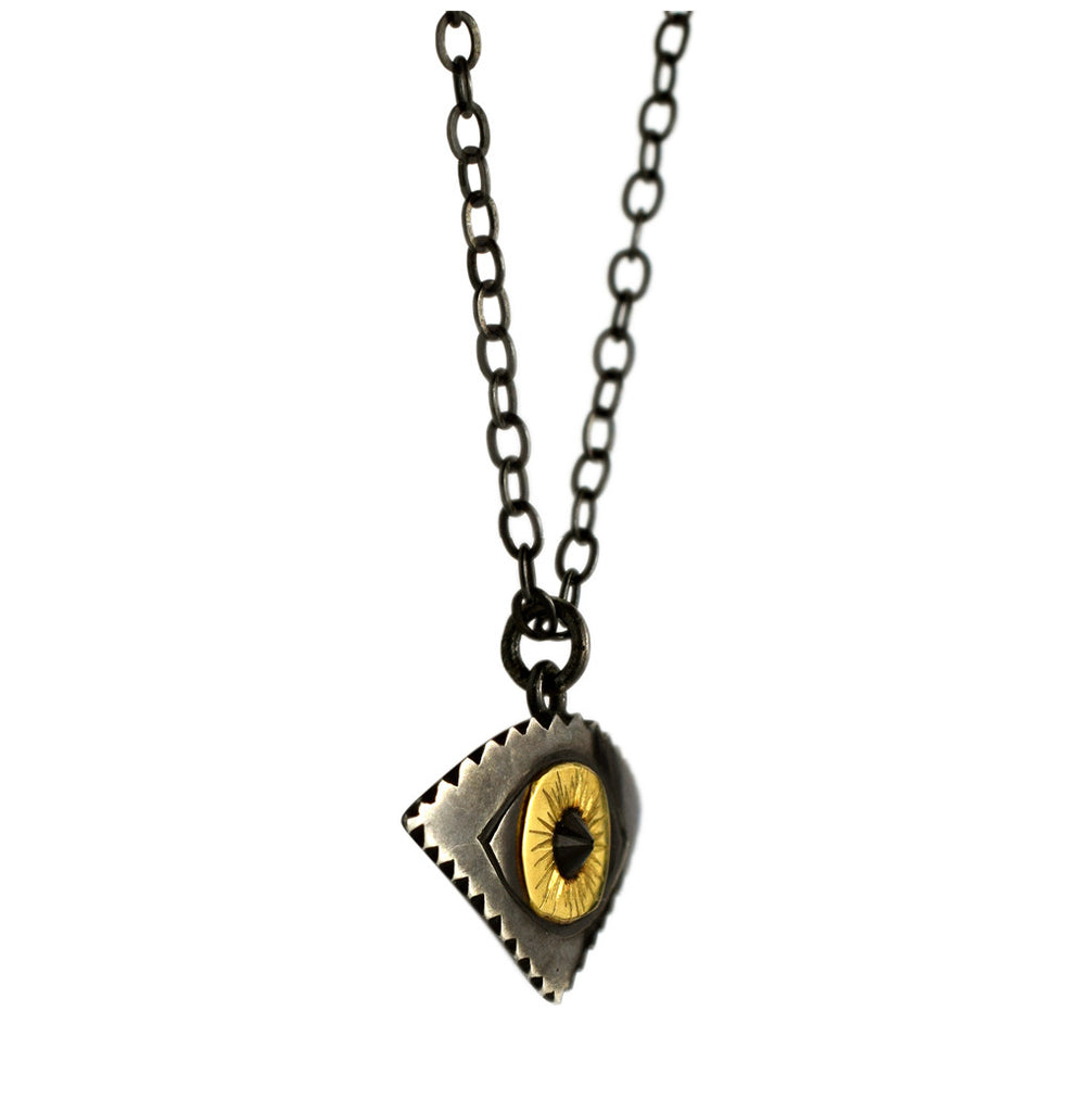 18k and Silver All-Seeing Eye Pendant