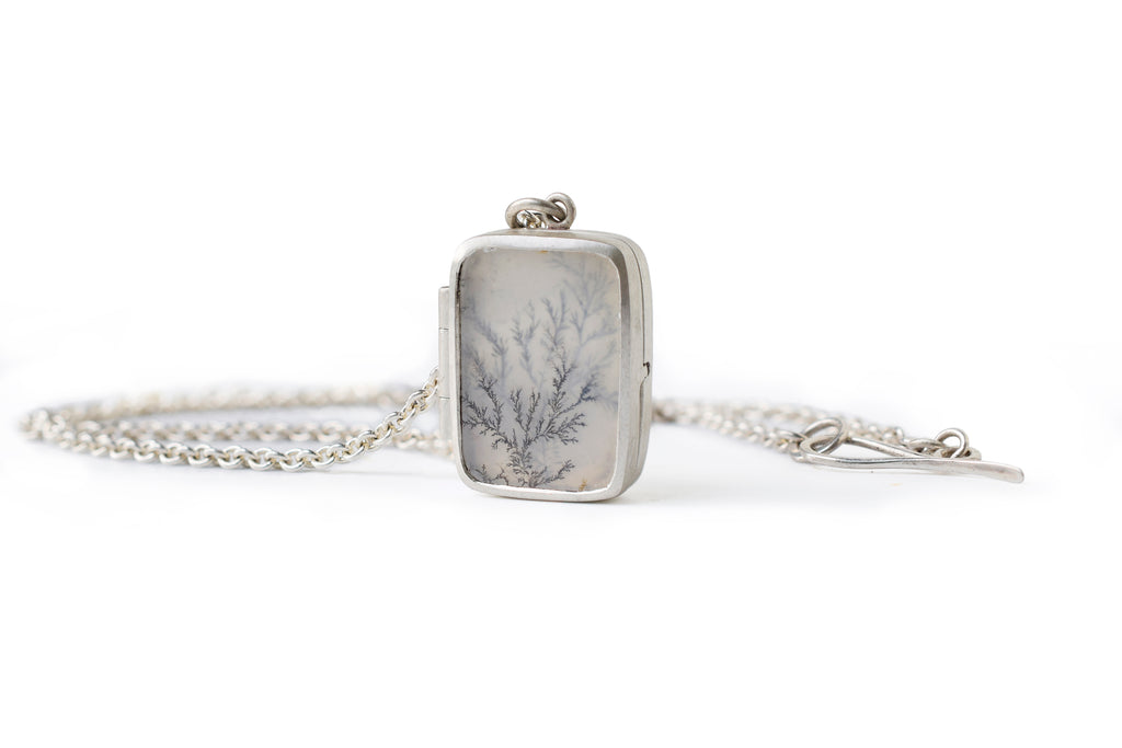 Afterimage Dendritic Agate Locket