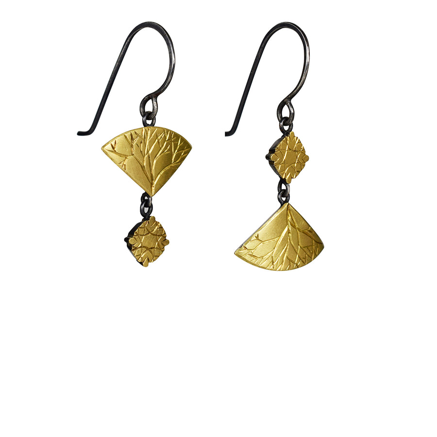Gold and Silver Mismatched Earrings