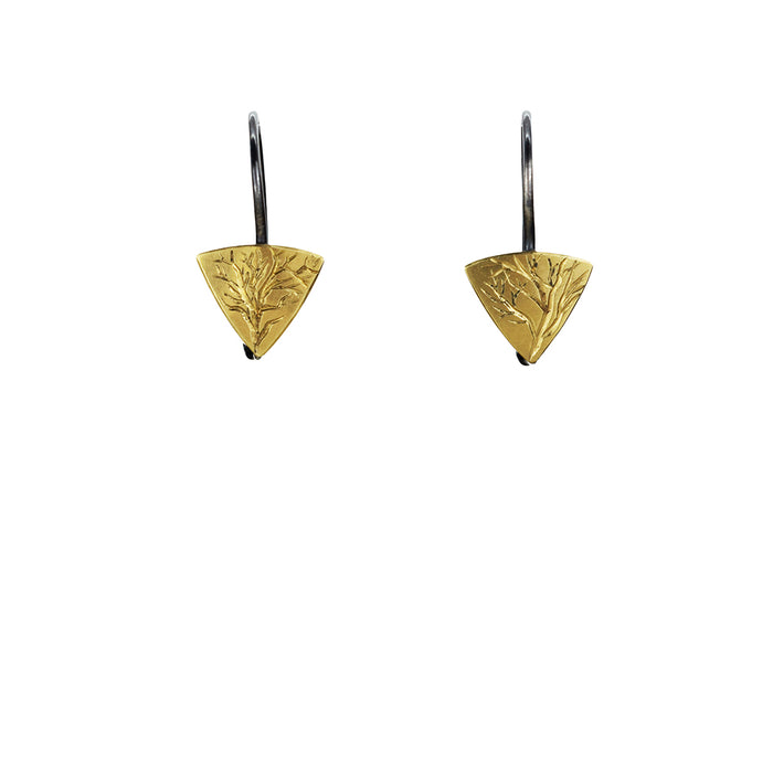 Gold and Silver Branch Earrings