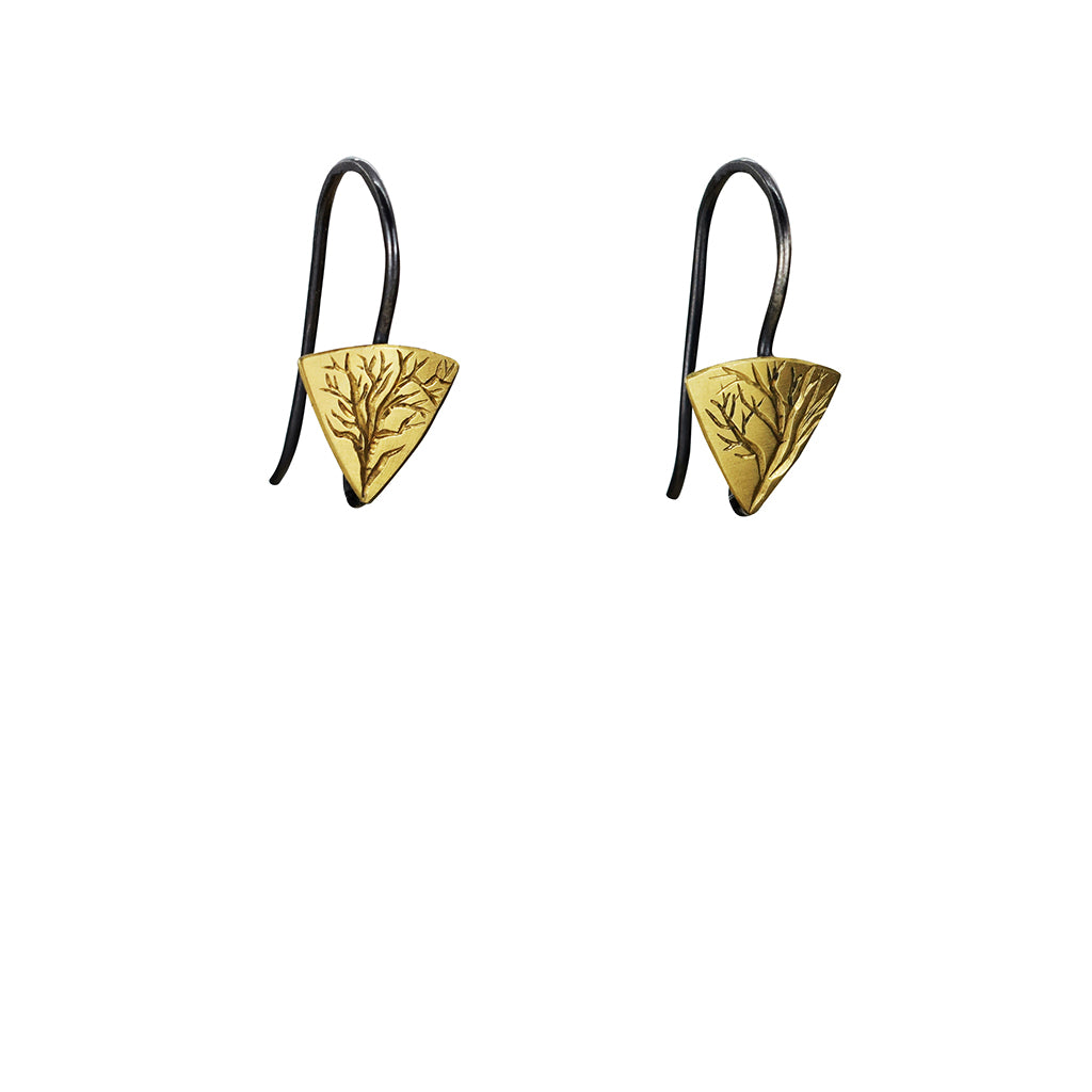 Gold and Silver Little Branch Earrings