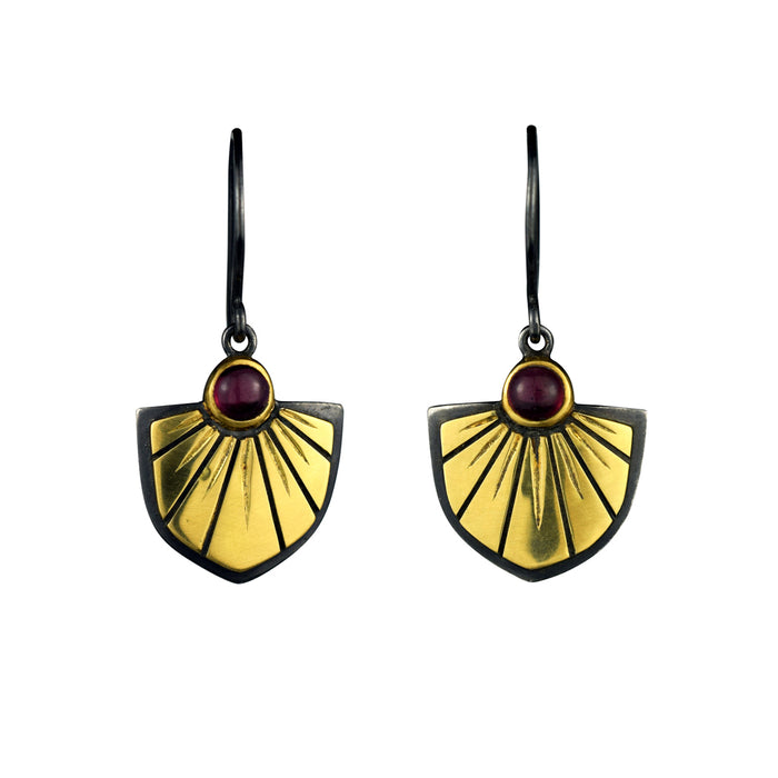 Garnet Saint Joan Earrings