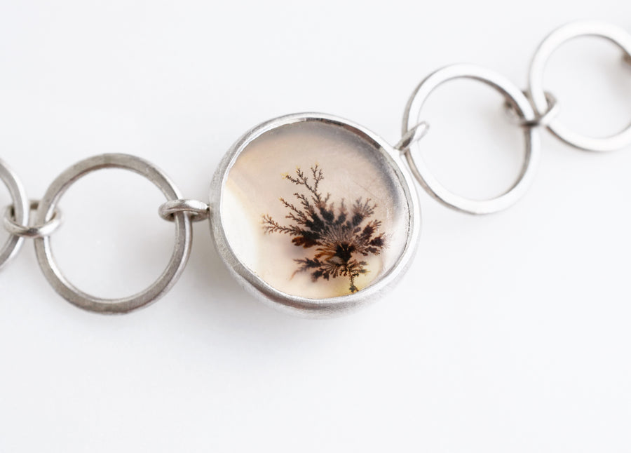 Little Tree Dendritic Agate Necklace