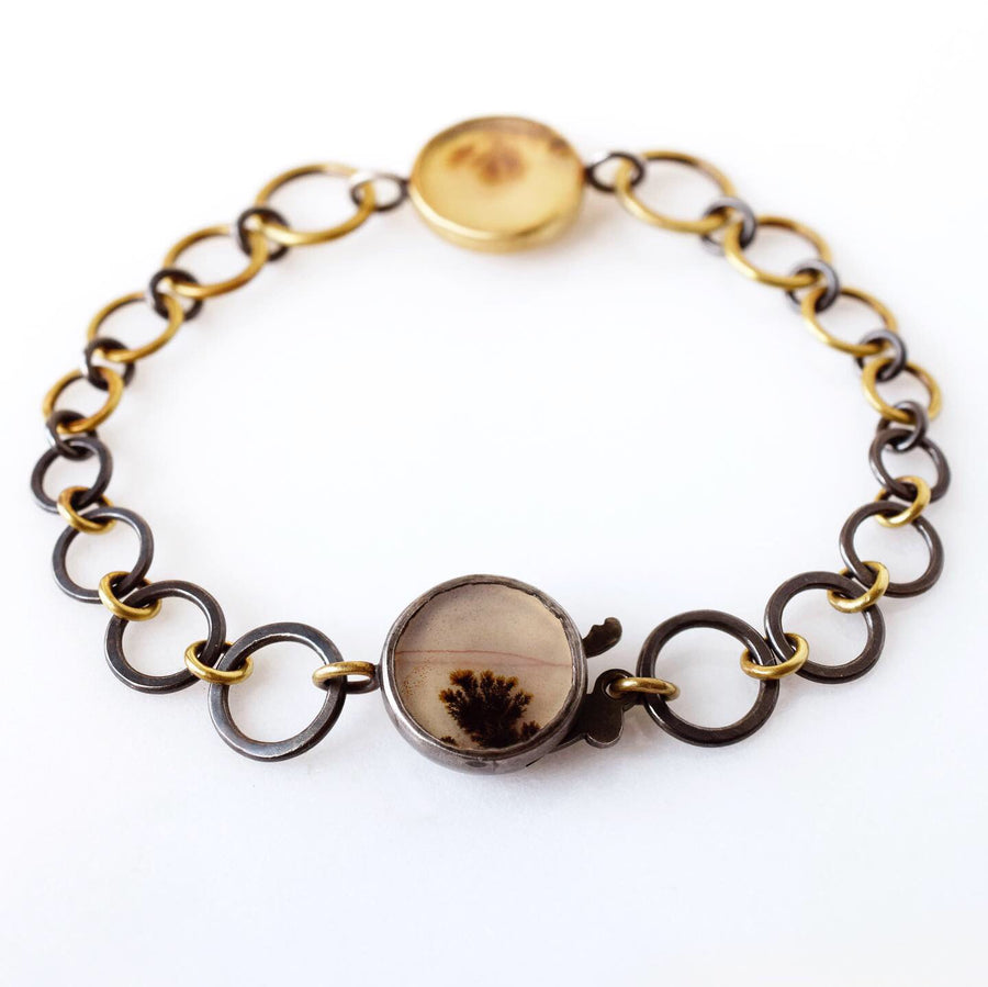Gold and silver ombré bracelet