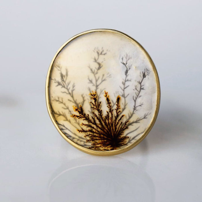 Grand Afterimage Dendritic Agate Ring