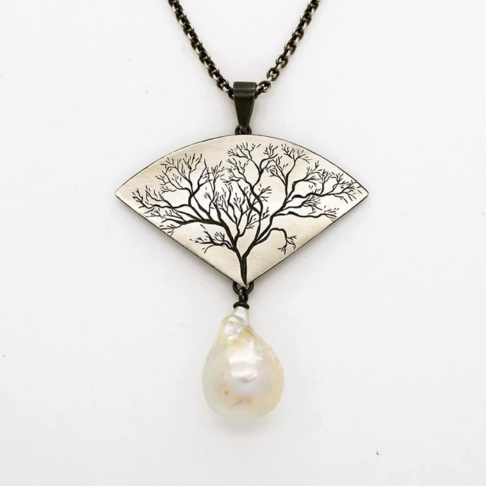 Grand Tree Necklace with Baroque Pearl