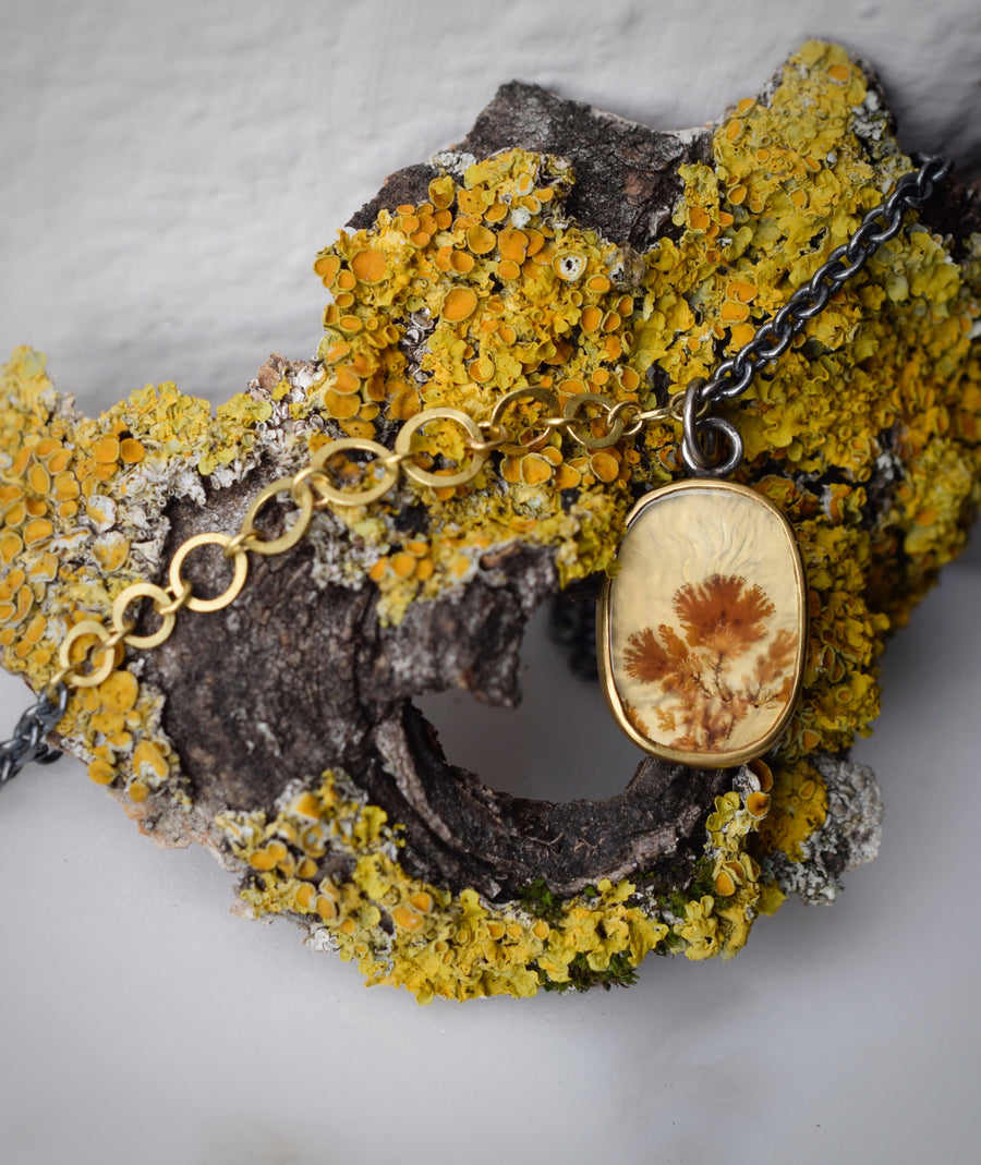 Sepia Dendritic Agate Necklace