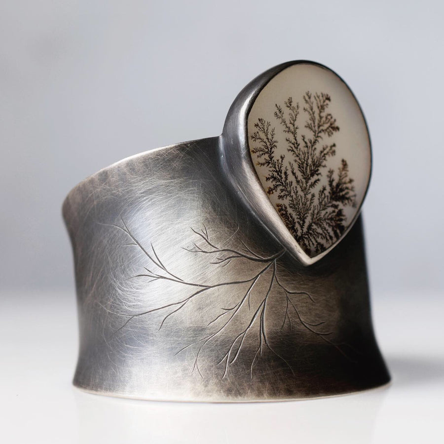 Epic Dendritic Agate Cuff