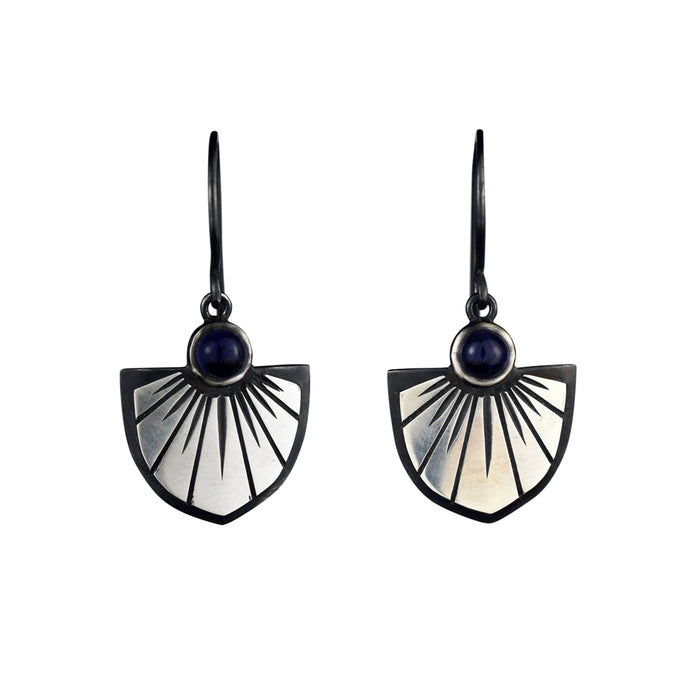 Iolite Saint Joan Earrings