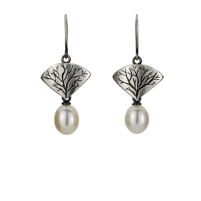 Branch Earrings with Pearls
