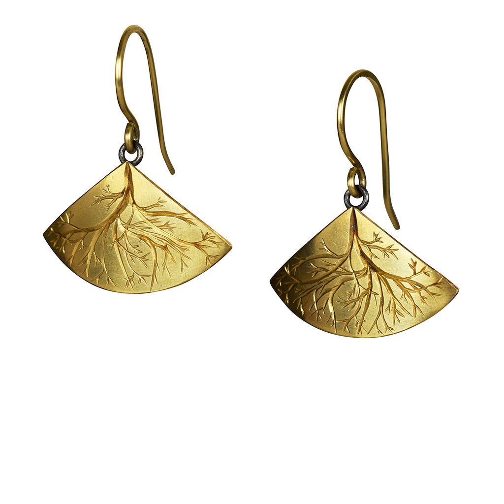 Gold and Silver Roots Earrings