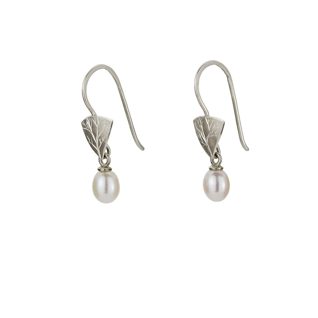 Little Branch Earrings with Pearls