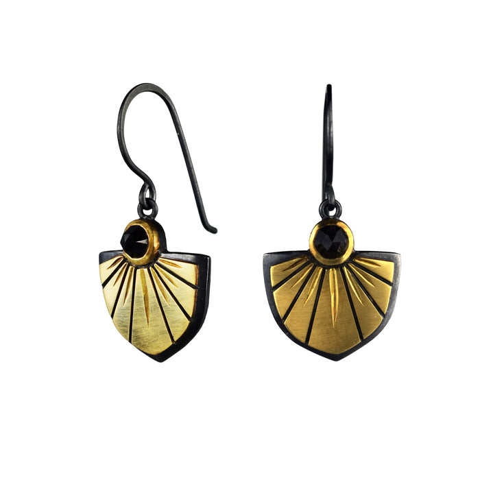 Black Spinel Saint Joan Earrings