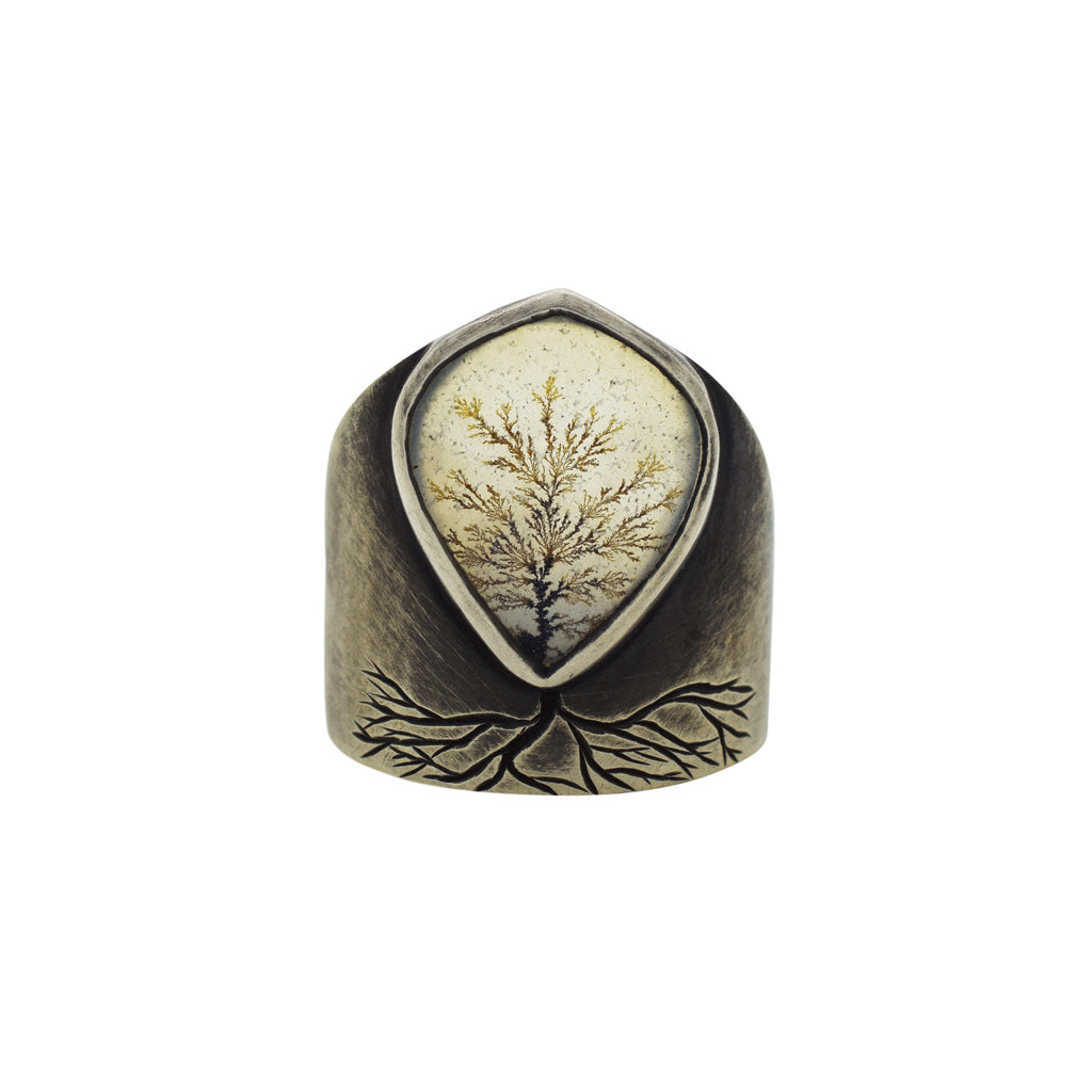 Old Growth Dendritic Agate Ring