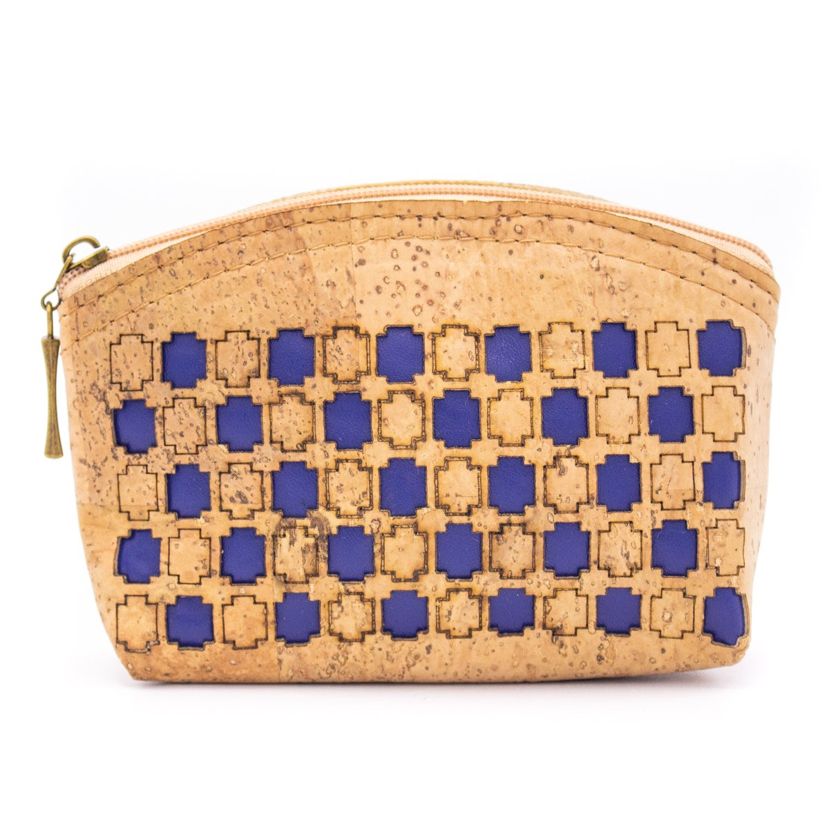Eco Friendly Natural Cork Laser Cutting Coin Purse