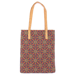 Natural cork Patterned Eco Friendly Tote Shopping Bag