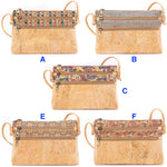 Natural cork cross body stylish bag
