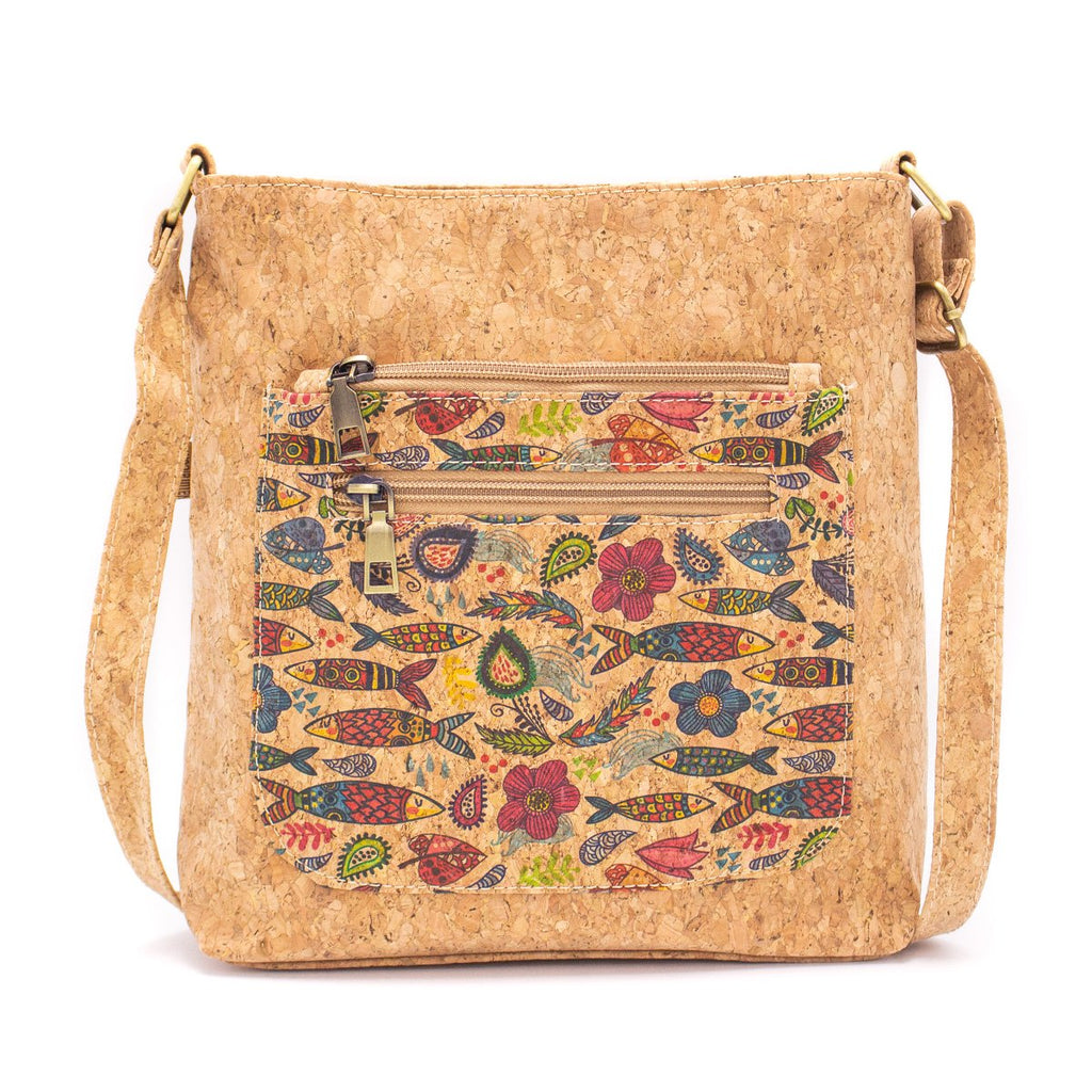 Eco Friendly Sardines and Butterflies Patterned Crossbody Bag