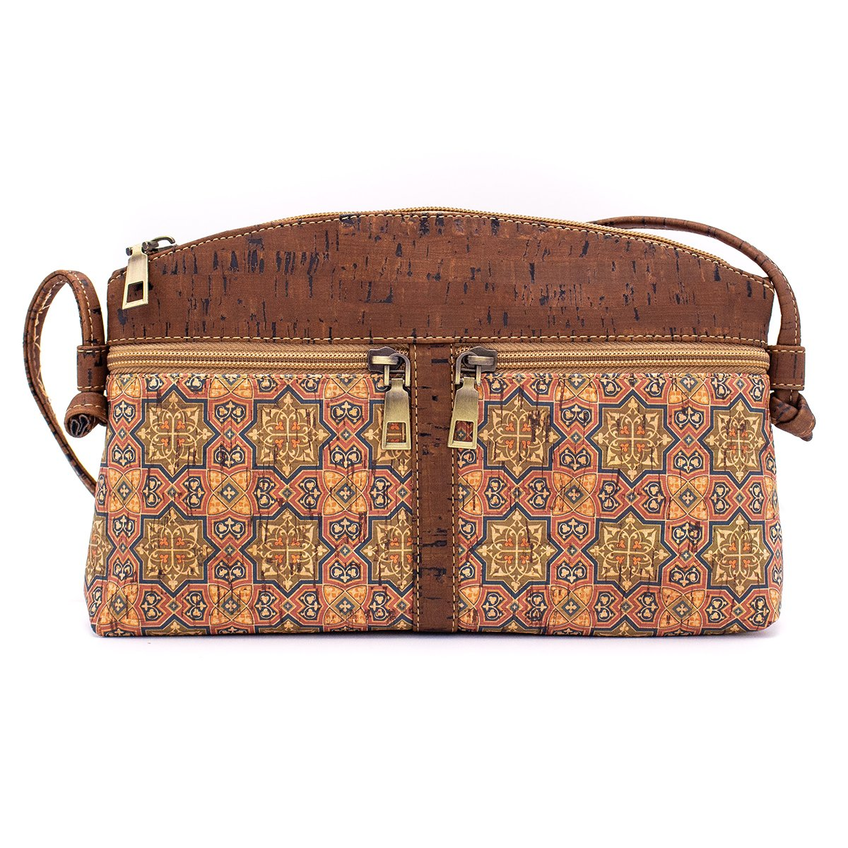 Brown Cork Body Cross Messenger Bag