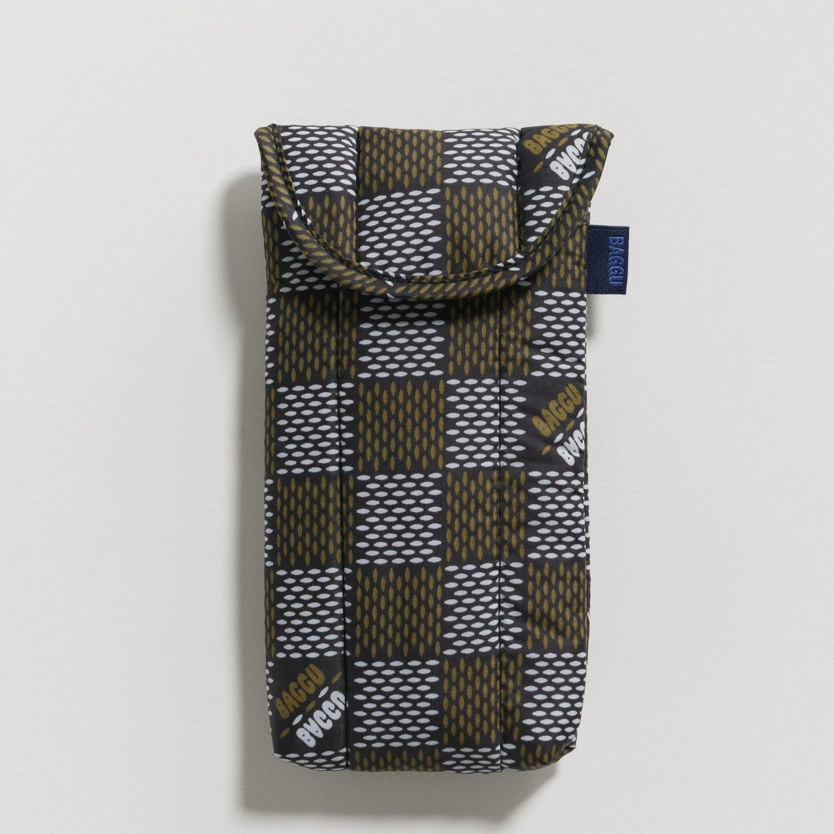 Puffy Glasses Sleeve (Woven Check)