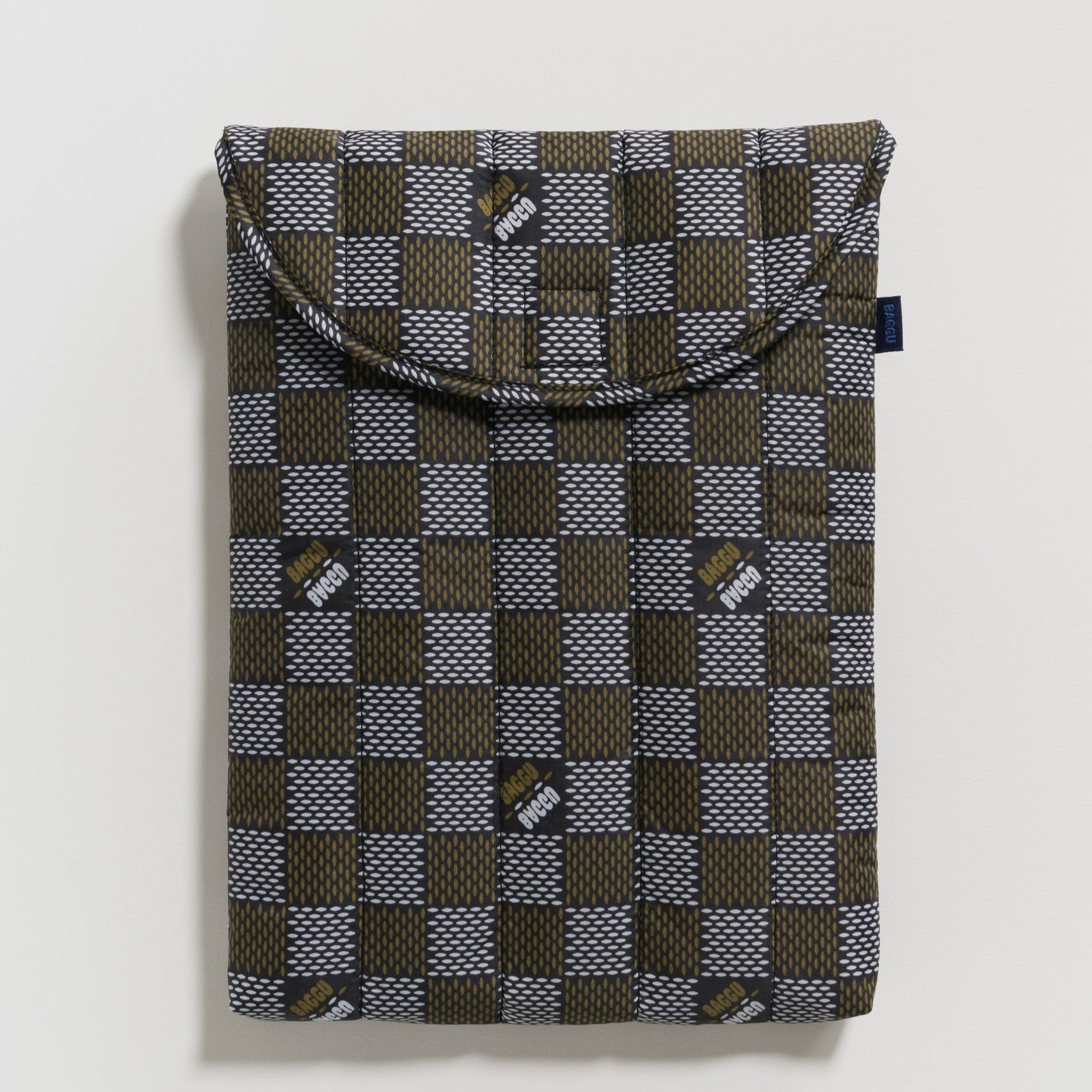 "Puffy Laptop Sleeve 13""/16"" (Woven Check)"