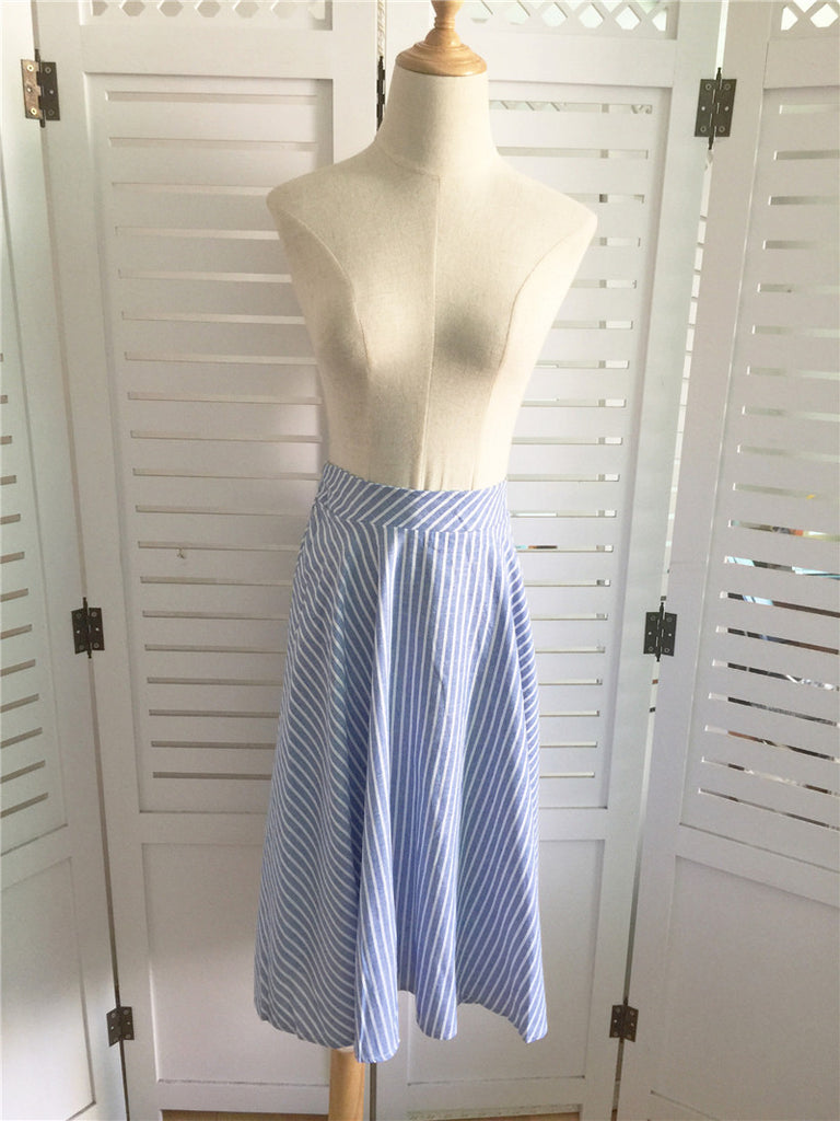 Her Basic Stripes Skirt