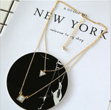Estrella Layered Marble Necklace