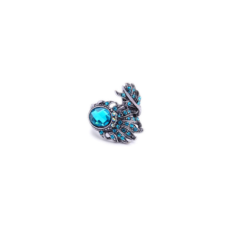 Peacock Inspired Cocktail Ring