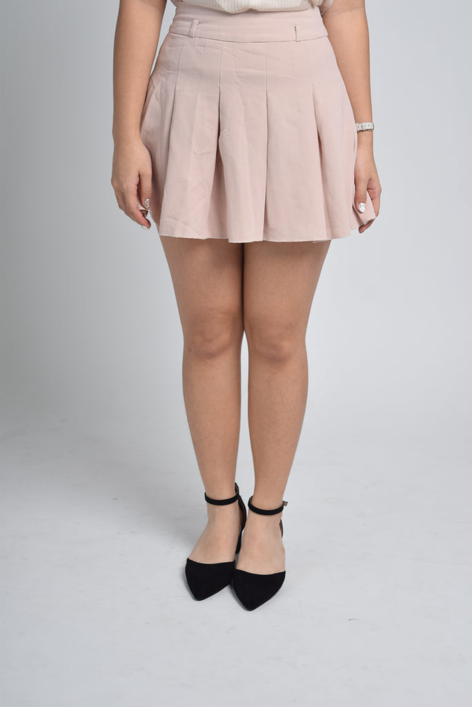 Frieda Pastel Pleated Flare Skirt