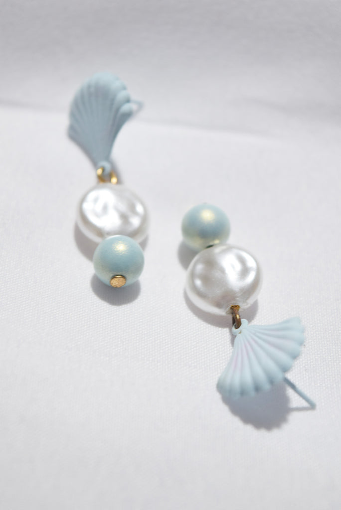 Mellifluous Pastel Pearl Shell Earrings