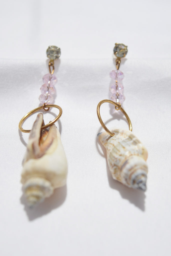 Ovidia Seashell Bead Cascade Earrings