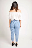 Jodana Pleated Blue Sparkle Pants