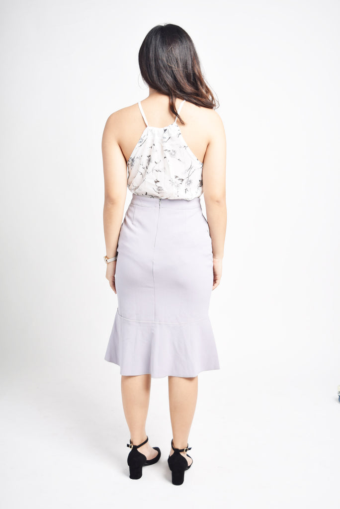 Noela Mermaid Cut Peplum Skirt