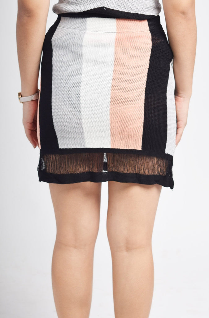 Nabirye Crochet Vertical Stripes Skirt