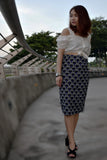 Svenya Palm Fronds Skirt