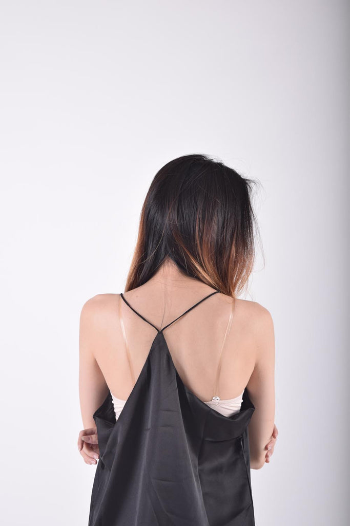 Helden V Back Satin Top