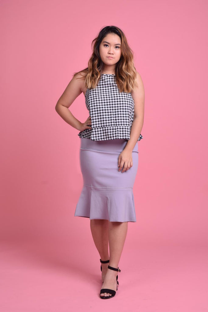 Ulyssa Cut-In Peplum Top