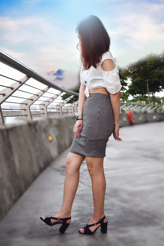 Marbella A-Line Plaid Skirt