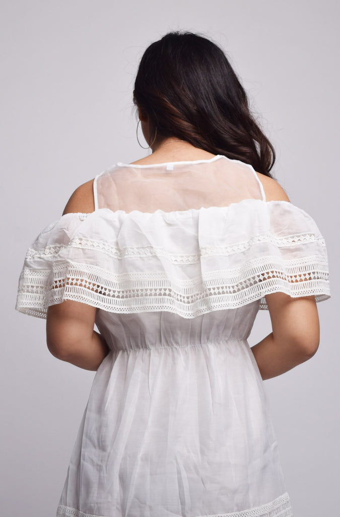 Palmina Collared Off Shoulder Dress