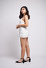 Perel White Floral Embroidery Lace Dress