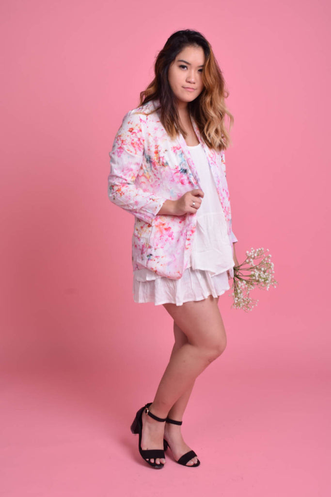 Rithelle Pastel Floral Spray Jacket
