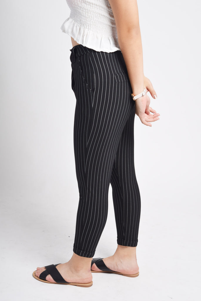 Reagan Black Striped Pants