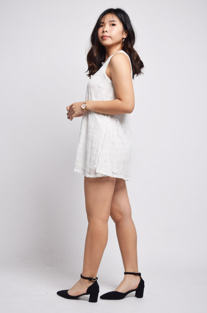 Pallavi Eyelet Lace Mini Dress