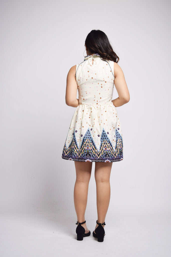 Sherezade Bohemian Mini Prints Dress