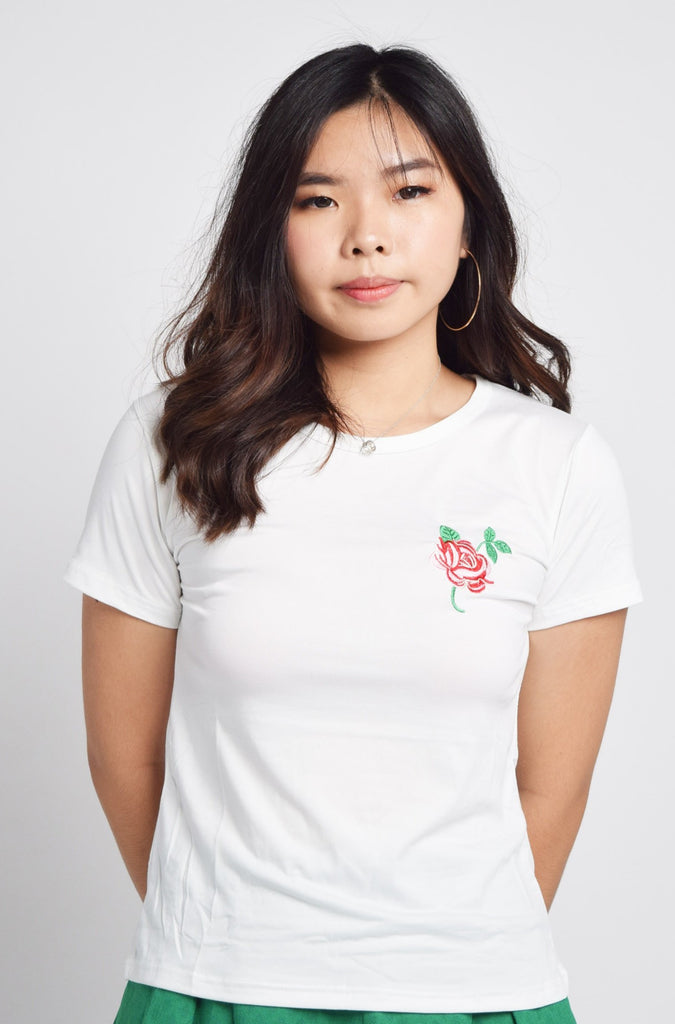 Jordin Rose Embroidery TShirt Top